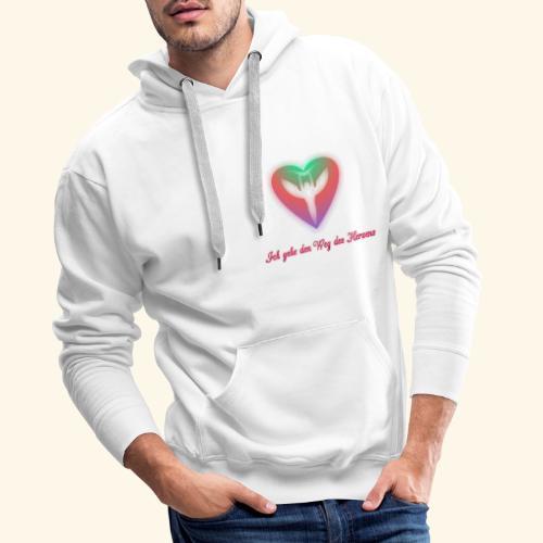 Ich gehe den Weg meines Herzens - Männer Premium Hoodie