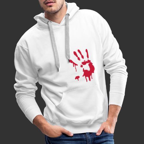 Bloody Hand Print - Premiumluvtröja herr