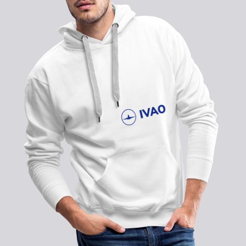 IVAO (Logo bleu complet) - Sweat-shirt à capuche Premium pour hommes