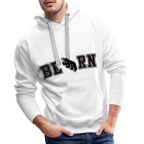 Berncity Bear Typo 02 black - Männer Premium Hoodie