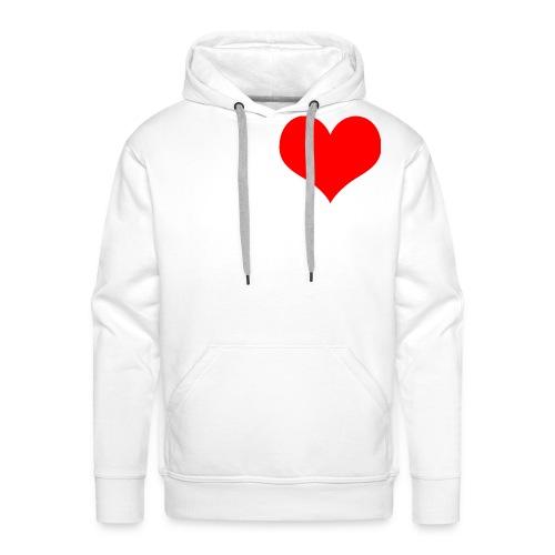 rotes Herz - Männer Premium Hoodie