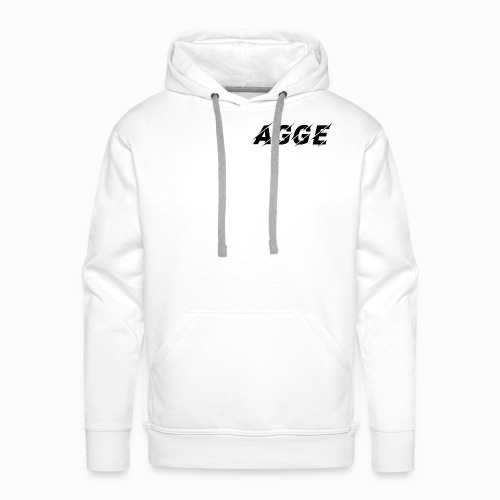 Agge - Svart Logga | Fram - Premiumluvtröja herr