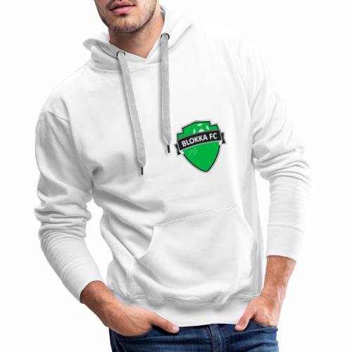 Blokka FC - Grønn logo - Premium hettegenser for menn