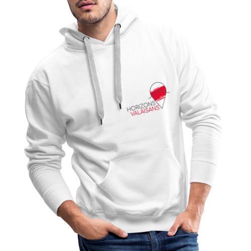 Horizons Valaisans (noir) - Sweat-shirt à capuche Premium pour hommes