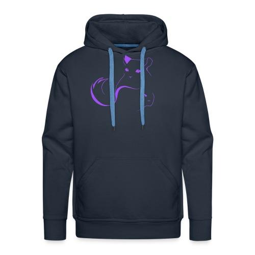 logo erittain iso violettina 1 png - Miesten premium-huppari