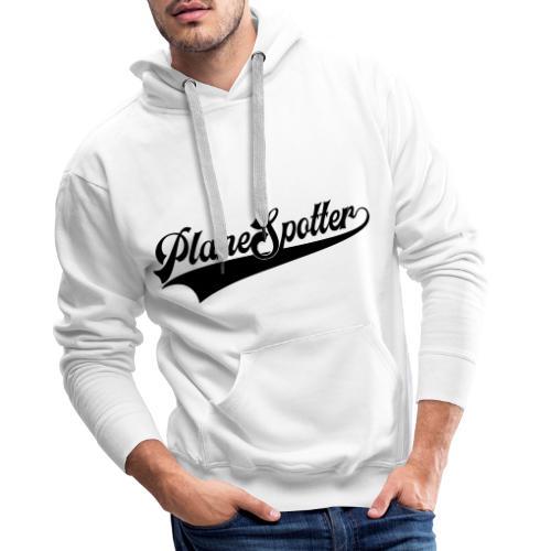 PlaneSpotter Retro - Bluza męska Premium z kapturem