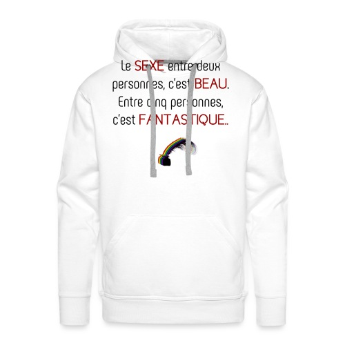 Citation arc-en-ciel - Sweat-shirt à capuche Premium pour hommes