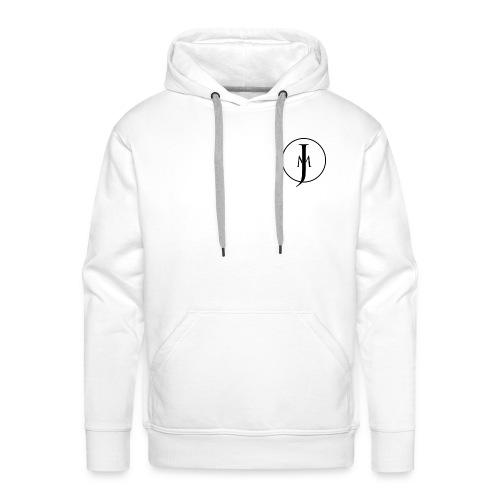 JM Designs Black on White - Men's Premium Hoodie