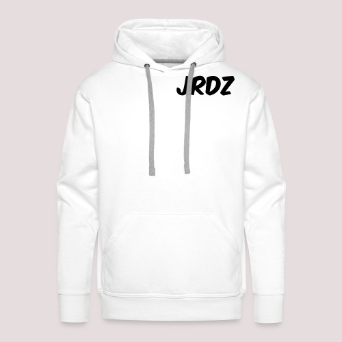 Jeardz Black Consonant Logo - Men's Premium Hoodie