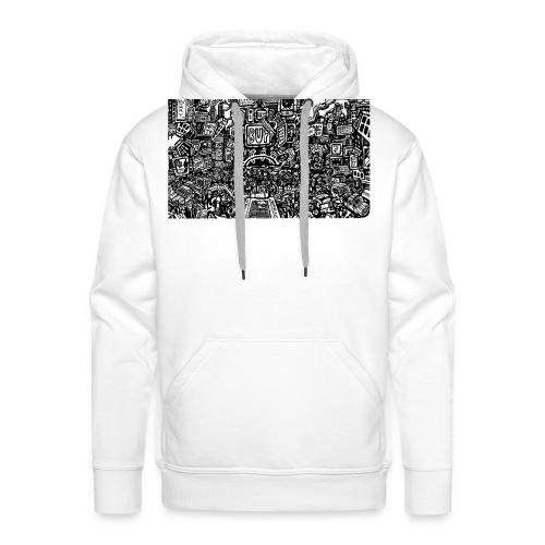 weird drawings - Mannen Premium hoodie