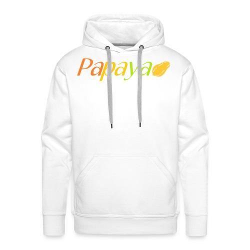 Papaya - Sudadera con capucha premium para hombre