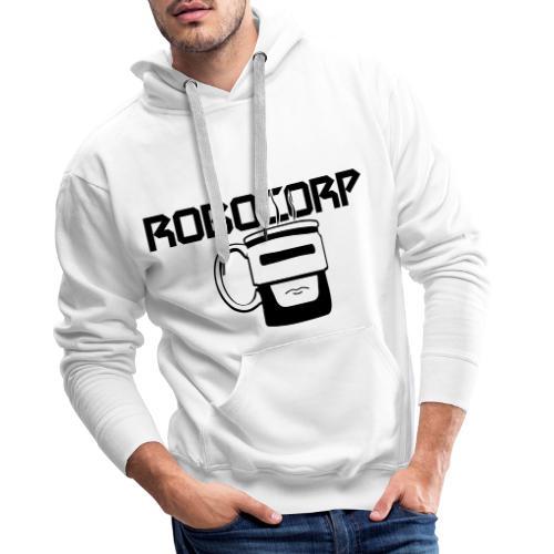 Robo corp - Bluza męska Premium z kapturem