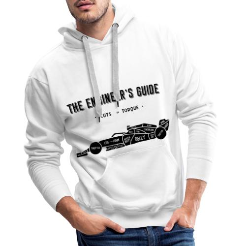 Racing car Cuts of Meat (Black Print) - Men's Premium Hoodie