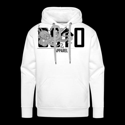 OctoApparel Logo schwarz - Männer Premium Hoodie