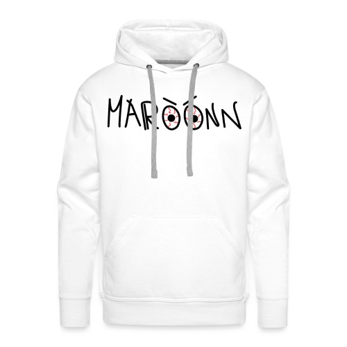 Maroonn white tee Very Special bat Edition - Felpa con cappuccio premium da uomo