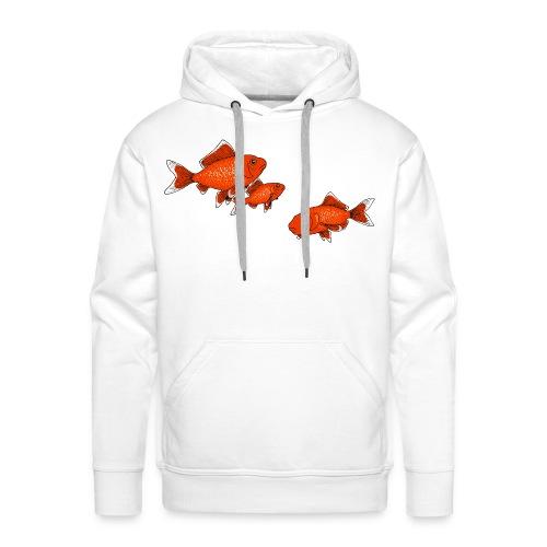 Poissons rouges - Sweat-shirt à capuche Premium pour hommes