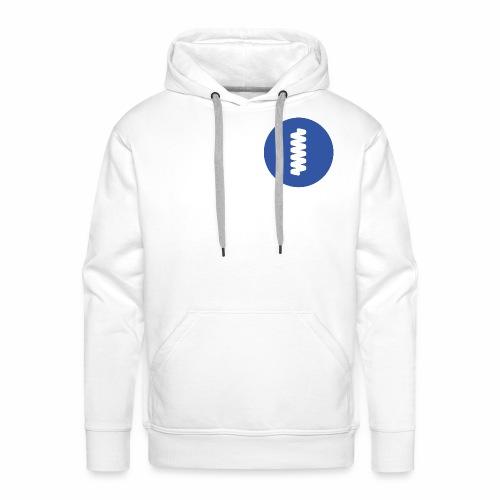 logomark in circular blue - Men's Premium Hoodie