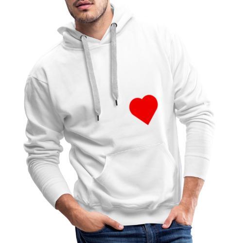 Heart - Sweat-shirt à capuche Premium pour hommes