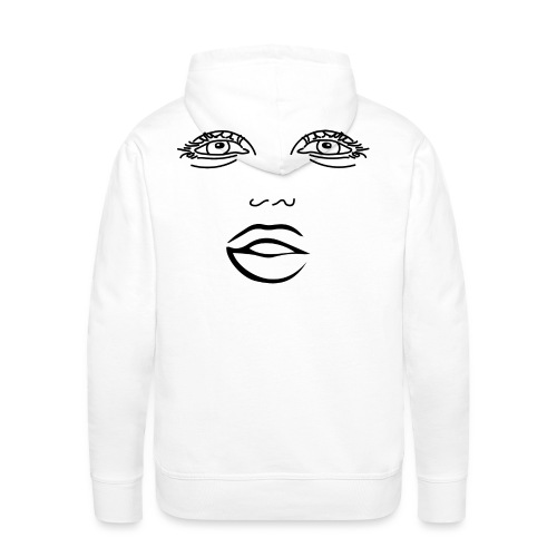 Trippy Face - White - Men's Premium Hoodie