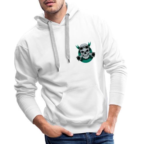 crane motard vintage ruban 3605 83 - Sweat-shirt à capuche Premium pour hommes