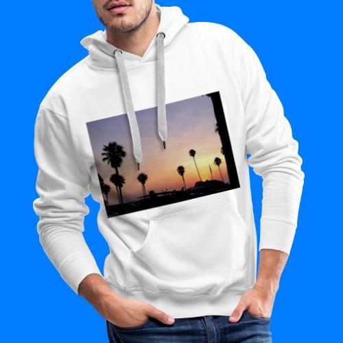 Sunset in LA - Tramonto a Los Angeles - Felpa con cappuccio premium da uomo
