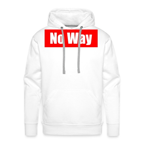 no way logo - Sweat-shirt à capuche Premium pour hommes