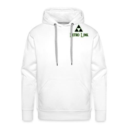 Logo Retro Link - Sweat-shirt à capuche Premium pour hommes