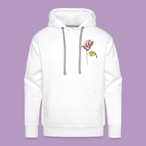 Rosa rosa garabatos - Sudadera con capucha premium para hombre