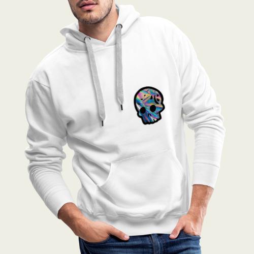 Skull craneo reflejante - Sudadera con capucha premium para hombre