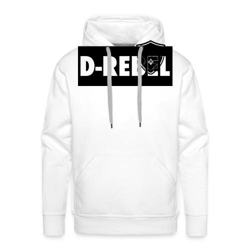 DREBEL SIDE AND STICKER - Mannen Premium hoodie