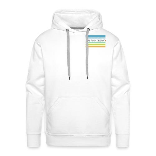 Colores y letras - Sudadera con capucha premium para hombre