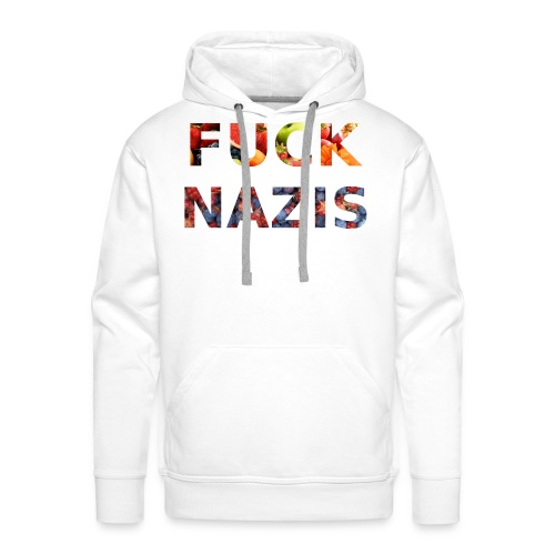 Fuck Nazis with Fruits - Männer Premium Hoodie