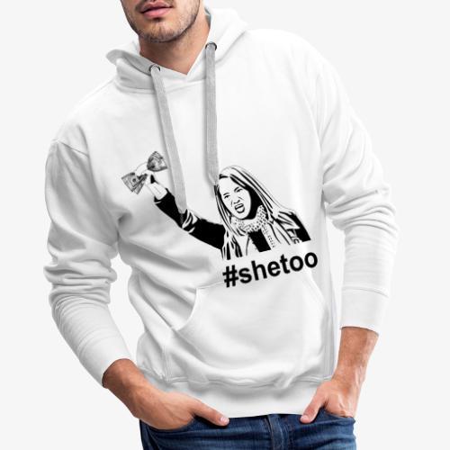 asia #shetoo - Felpa con cappuccio premium da uomo