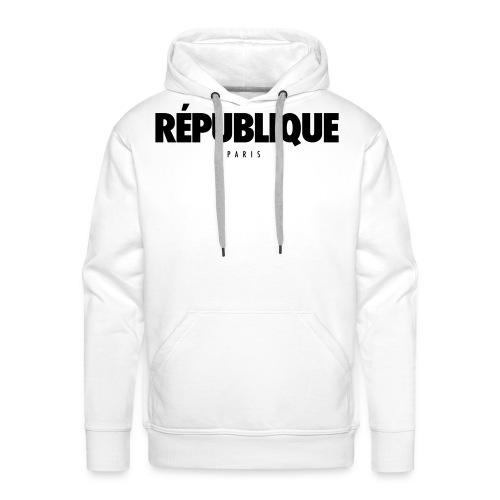 REPUBLIQUE Paris - Sweat-shirt à capuche Premium pour hommes