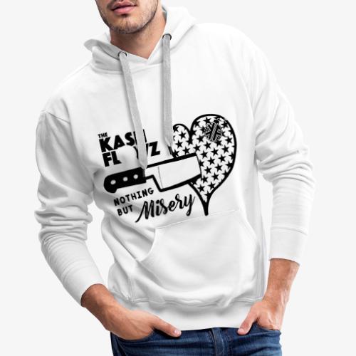 Nothing But Misery Knife Heart Black - Sweat-shirt à capuche Premium pour hommes