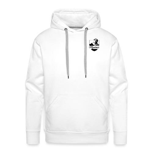 AQUINAS LOGO Black - Sweat-shirt à capuche Premium pour hommes