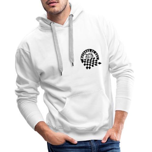 MDBAZ double logo noir - Sweat-shirt à capuche Premium pour hommes
