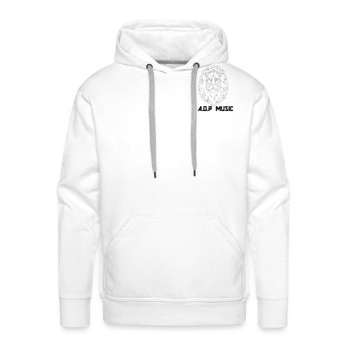 W/B Logo Lion {A.O.P MUSIC} - Men's Premium Hoodie