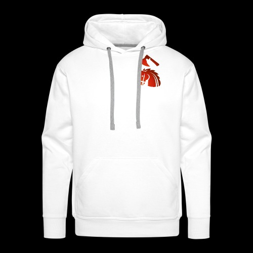 red horse with an axe above – Starykon-Kasprzyk - Sweat-shirt à capuche Premium pour hommes