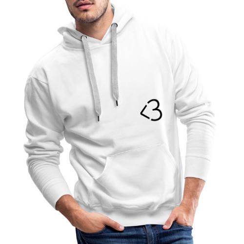 <3 - Herre Premium hættetrøje