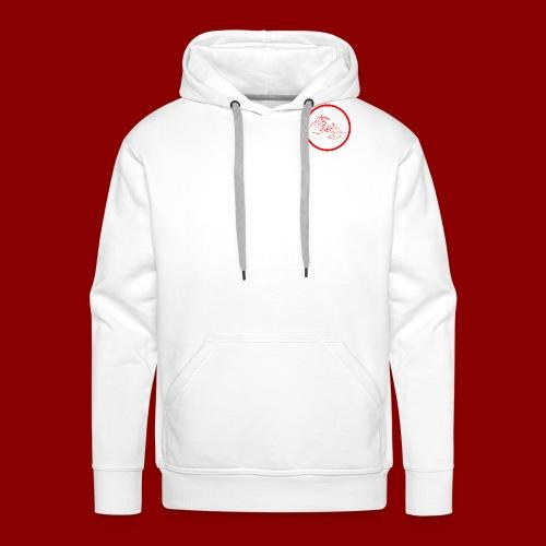 Logo Rond / Rouge - Sweat-shirt à capuche Premium pour hommes