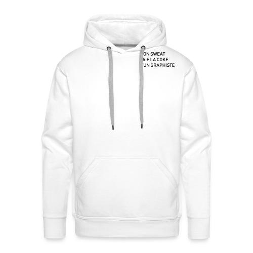 Mon Sweat paie la C d'un graphiste - Sweat-shirt à capuche Premium pour hommes