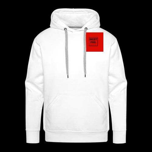 WEST FEEL logo rouge - Sweat-shirt à capuche Premium pour hommes
