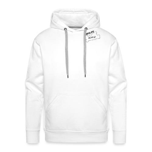 Bikelife0342 Wit - Mannen Premium hoodie