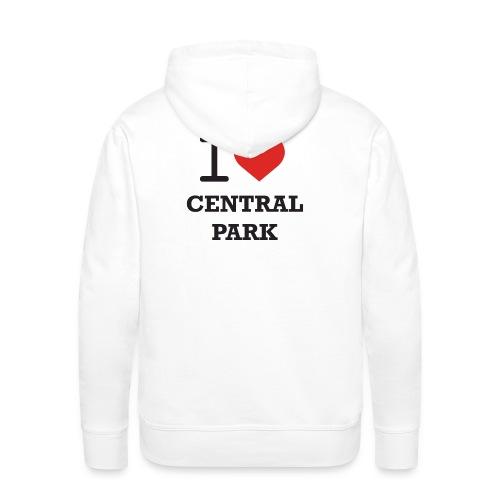 Huppari JCI ja I Love Central Park -logoilla - Miesten premium-huppari