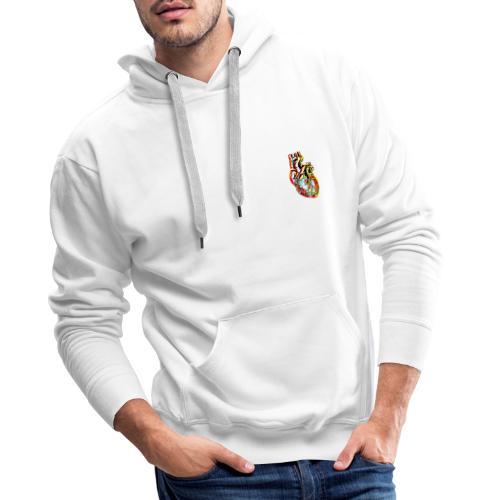 MonkeyShy Cœur - Sweat-shirt à capuche Premium pour hommes