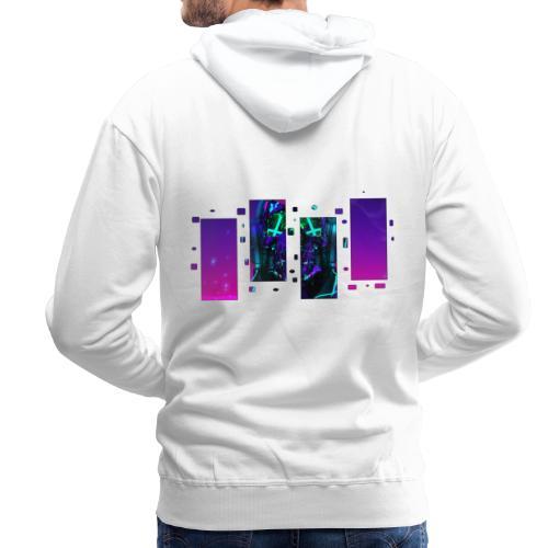 CyberDemate - Sweat-shirt à capuche Premium pour hommes