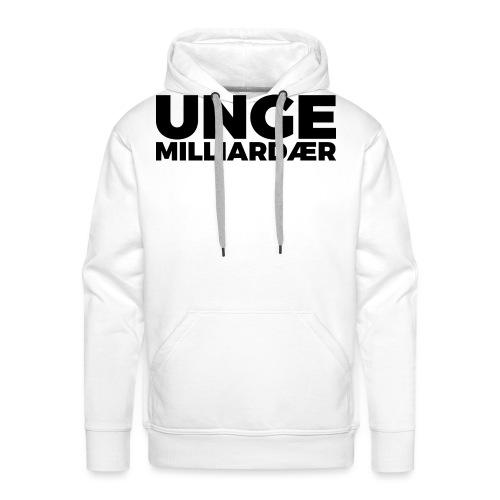 unge-mill-logo-svart - Premium hettegenser for menn