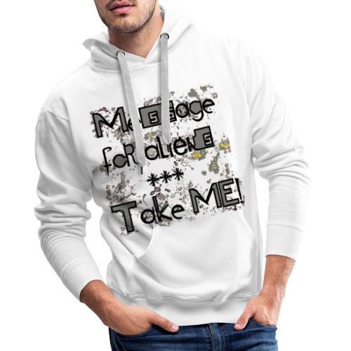 message for aliens PNG grijs - Mannen Premium hoodie