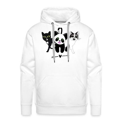 Tipsy, Tapsy and Happy Panda - Men's Premium Hoodie